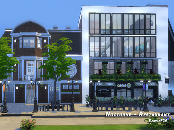 Nocturne restaurant by Danuta720 at TSR image 2620 Sims 4 Updates
