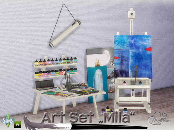 Mila Art Hobby Set by BuffSumm at TSR image 263 Sims 4 Updates