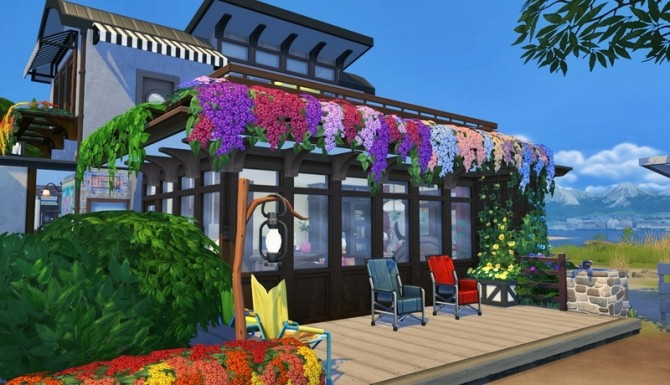 Sims 4 House 019 Beach Cafeteria by Bangsain at My Sims House