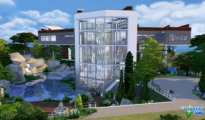 Sims 4 Lake Swan house by Vanderetro at L'UniverSims