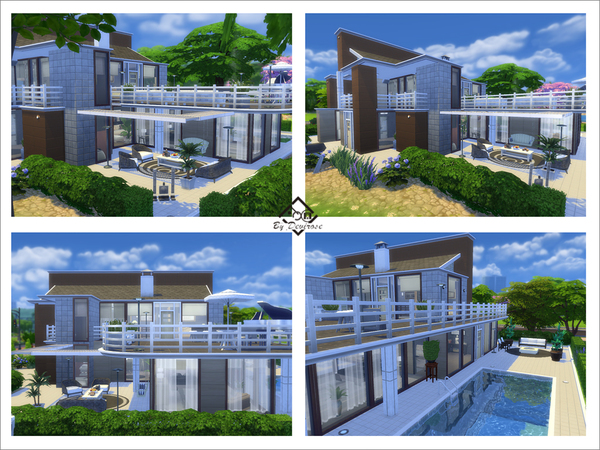 Sims 4 Mandy Modern 32 house by Devirose at TSR