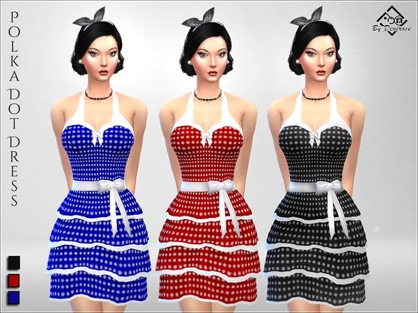 PolkaDot Dress by Devirose at TSR image 2718 Sims 4 Updates