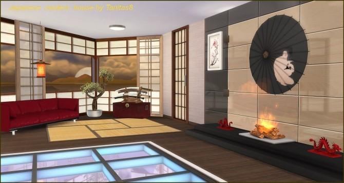 Sims 4 Japanese modern house at Tanitas8 Sims