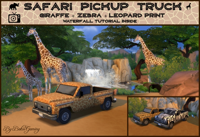 Safari Pickup Truck By Bakie At Mod The Sims 187 Sims 4 Updates