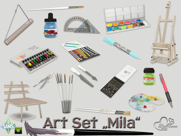 Mila Art Hobby Set by BuffSumm at TSR image 273 Sims 4 Updates