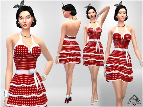 PolkaDot Dress by Devirose at TSR image 2818 Sims 4 Updates