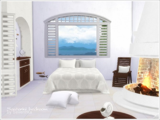 Santorini Bedroom At Sims By Severinka