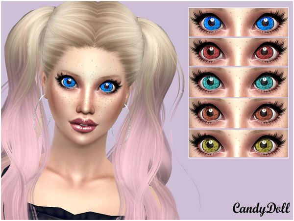 Sims 4 Super Cute DollyEyes by DivaDelic06 at TSR