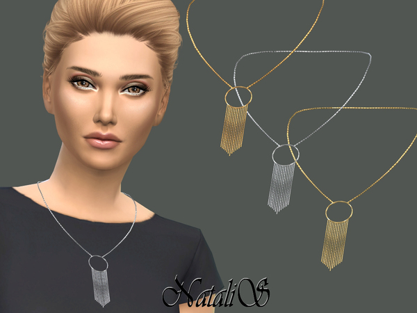 Sims 4 Hanging chain necklace by NataliS at TSR