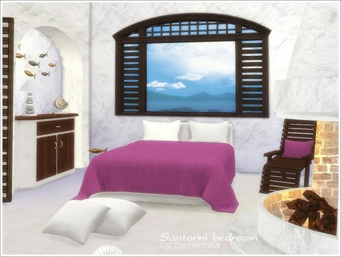 Santorini bedroom at Sims by Severinka image 3023 670x505 Sims 4 Updates