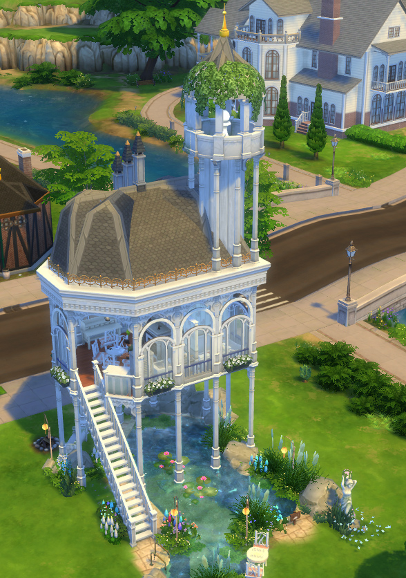 The sylvan pavilion by velouriah at mod the sims sims 4 for Garden design sims 4