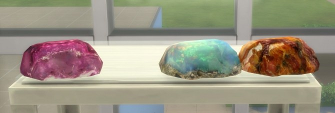 Mixed Large Raw Gemstones at Sims 4 Studio image 3061 670x226 Sims 4 Updates