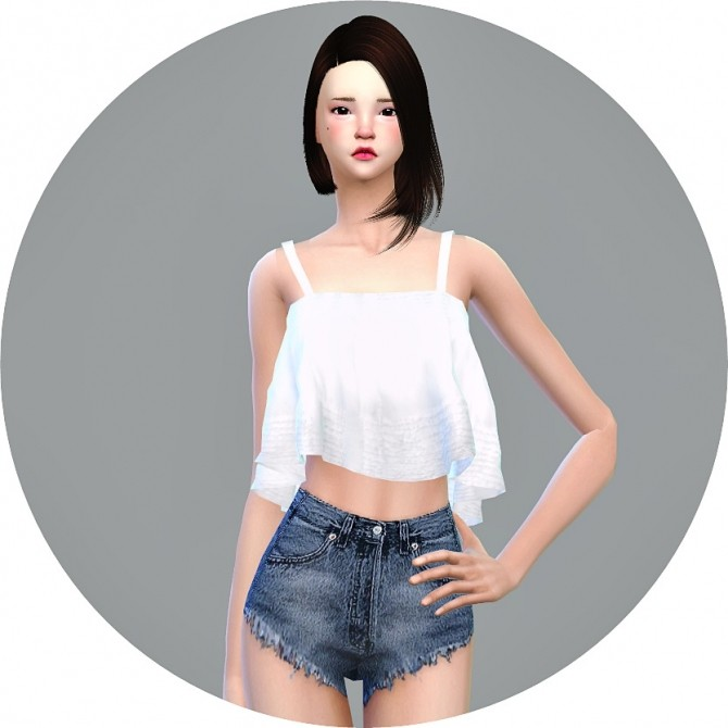 Ruffle Sleeveless Crop Top at Marigold image 307 670x670 Sims 4 Updates