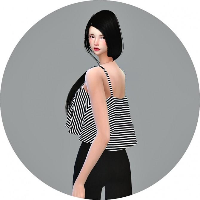 Ruffle Sleeveless Crop Top at Marigold image 308 670x670 Sims 4 Updates