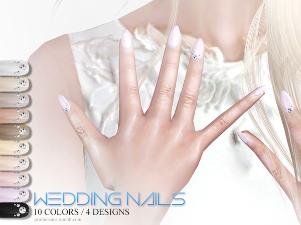 Wedding Nails by Pralinesims at TSR image 3105 Sims 4 Updates