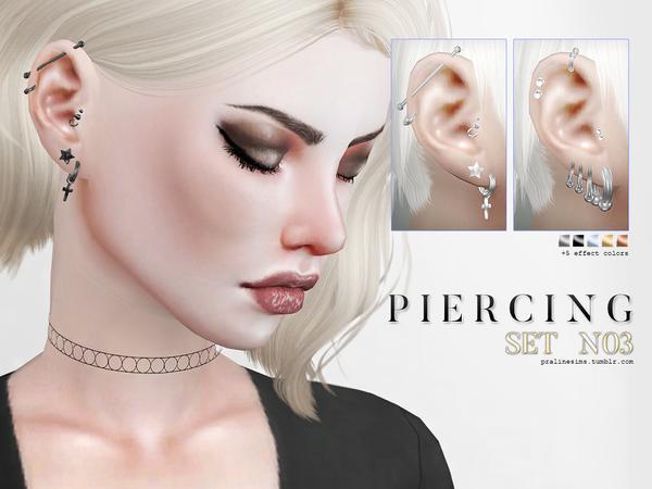 Sims 4 Piercing Set N03 by Pralinesims at TSR