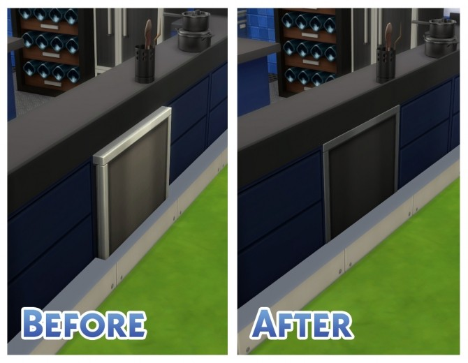 Sims 4 Dine Out Dishwasher Mesh Default by Menaceman44 at Mod The Sims