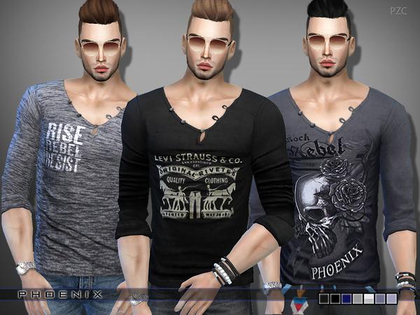 Sims 4 T shirt Set by Pinkzombiecupcakes at TSR
