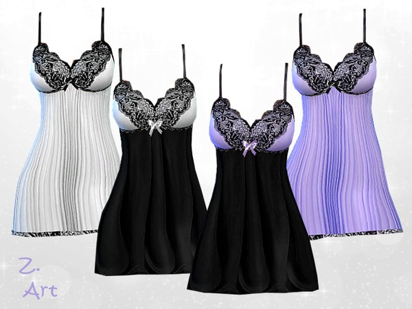 Sims 4 Caress II chemise by Zuckerschnute20 at TSR