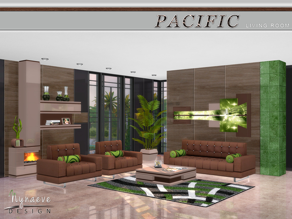 Pacific heights living room by nynaevedesign at tsr sims for Living room sims 4