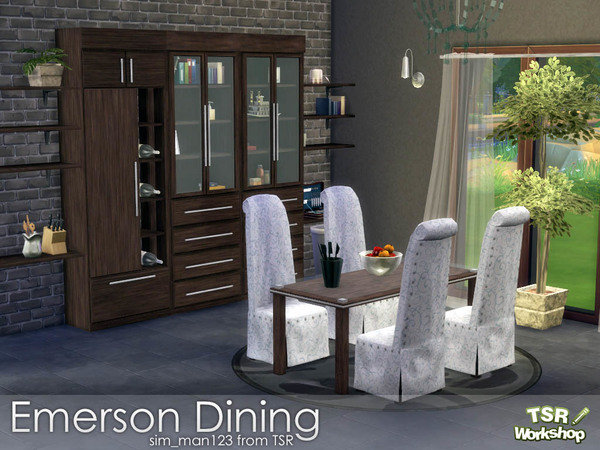 Emerson Dining Room by sim man123 at TSR image 314 Sims 4 Updates