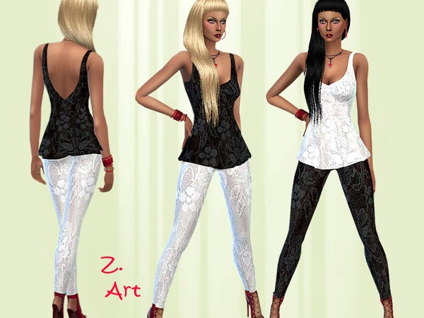 Tip Top Lace outfit by Zuckerschnute20 at TSR image 3218 Sims 4 Updates