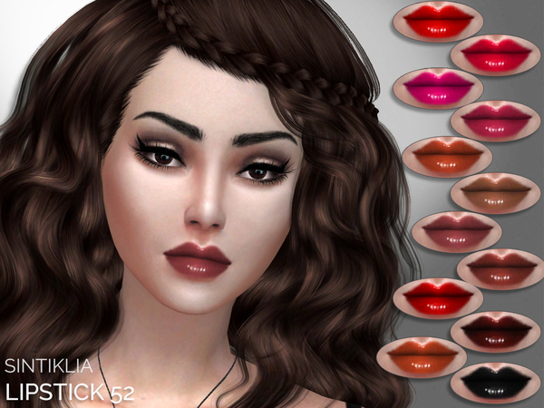 Lipstick 52 by Sintiklia at TSR image 3317 Sims 4 Updates