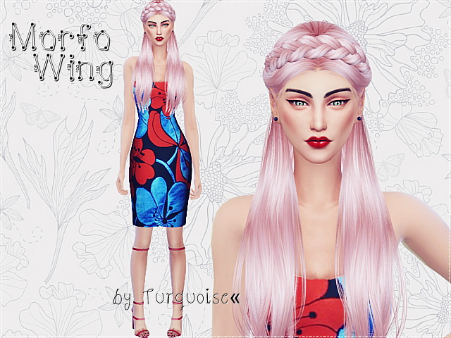 Sims 4 Romantic Heart flowers dresses by Turquoise at Sims Fans