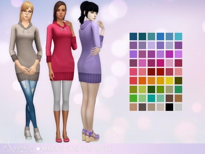 Maxine Sweater Dress at Aveira Sims 4 image 3461 670x503 Sims 4 Updates