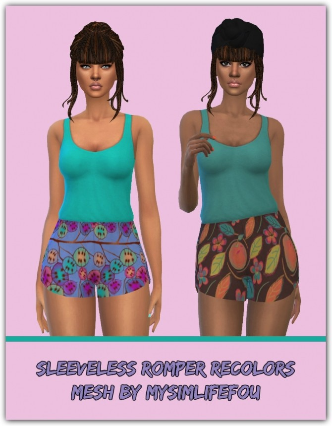 Sleeveless Romper Recolors at Maimouth Sims4 image 3510 670x859 Sims 4 Updates