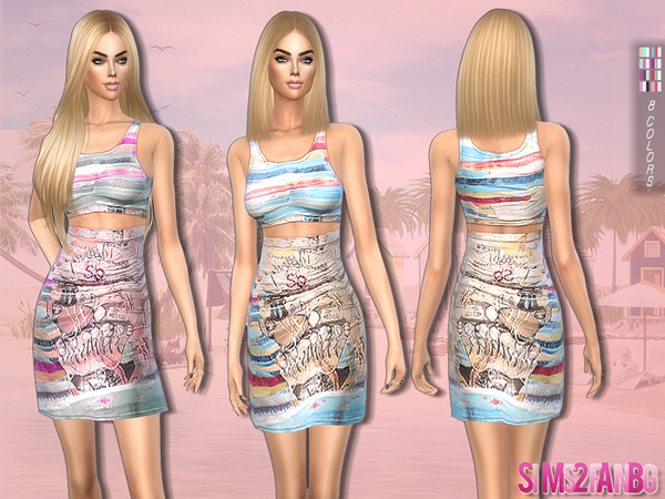 Printed summer outfit by sims2fanbg at TSR image 3523 Sims 4 Updates