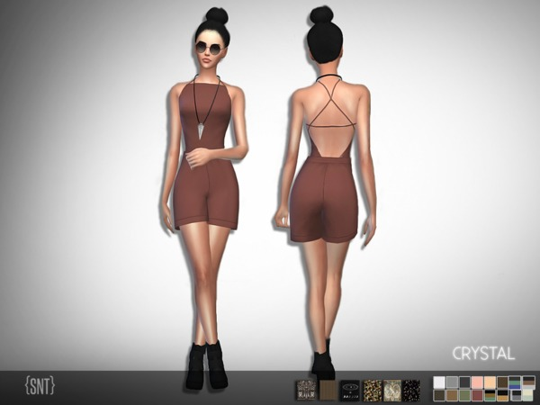 Sims 4 Crystal Jumpsuit by serenity cc at TSR
