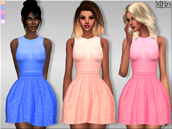 Linger Dress by Margeh 75 at TSR image 3529 Sims 4 Updates