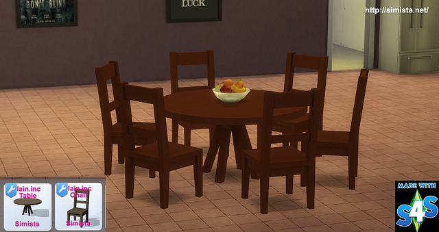 Six Seat Round Dining Table At Simista 187 Sims 4 Updates