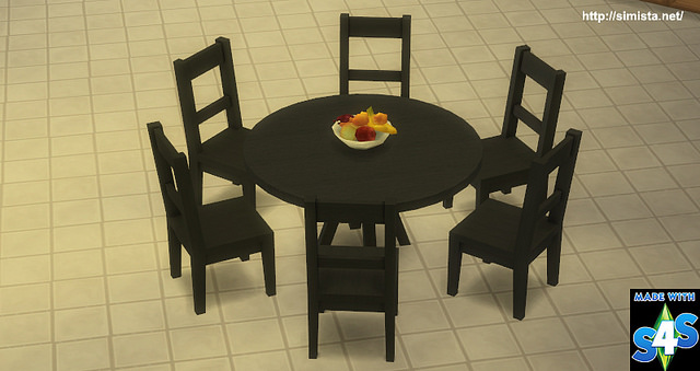 Six Seat Round Dining Table At Simista Sims 4 Updates