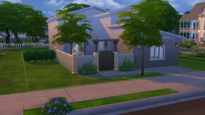 Sims 4 Contemporary Modern house by arwennn at Mod The Sims