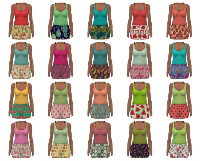 Sleeveless Romper Recolors at Maimouth Sims4 image 368 670x539 Sims 4 Updates