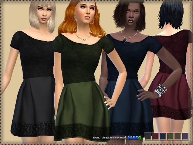 Sims 4 Dress Velvet Top at Bukovka