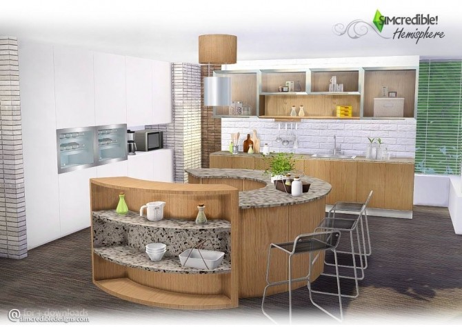 Hemisphere kitchen at SIMcredible! Designs 4 » Sims 4 Updates