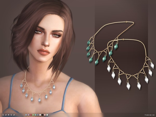 Sims 4 Sansa Necklace by toksik at TSR