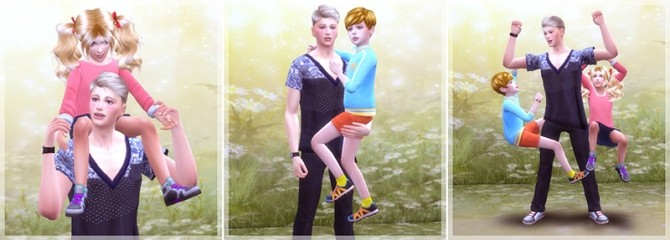 Sims 4 With father poses at A luckyday