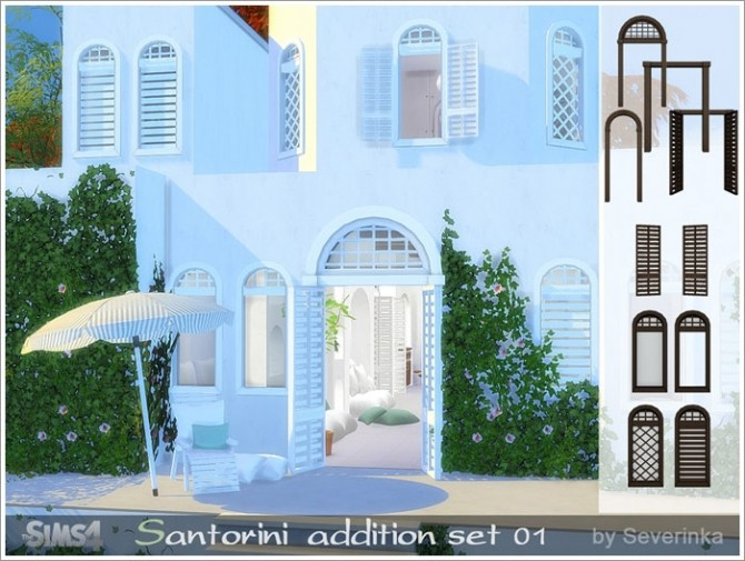 Sims 4 Santorini addition set 01 at Sims by Severinka