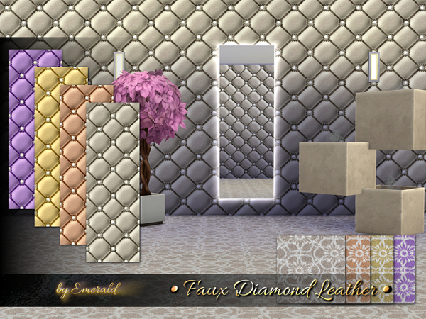 Faux Diamond Leather by emerald at TSR image 4117 Sims 4 Updates