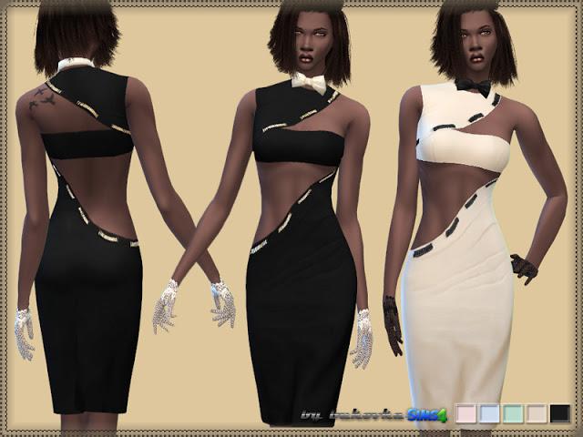 Sims 4 Dress & Tape at Bukovka