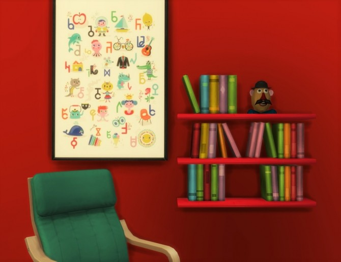 Sims 4 Simlish ABC paintings/posters at Budgie2budgie