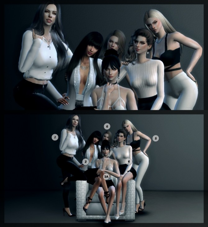 Group Pose 2 Pack Version At ConceptDesign97 Sims 4