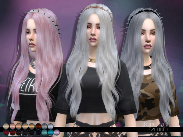 Sims 4 Shine Hair by Leah Lillith at TSR