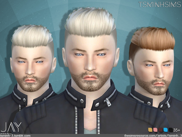 Sims 4 JAY Hairstyle 9 by TsminhSims at TSR