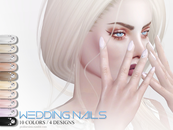 Wedding Nails by Pralinesims at TSR image 439 Sims 4 Updates