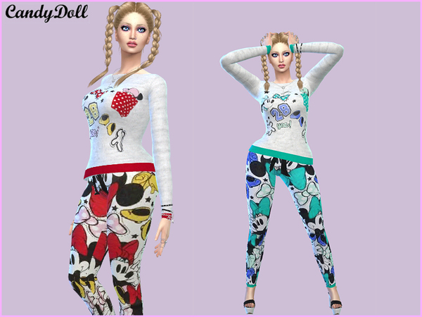 Sims 4 CandyDoll Cute Minnie mouse Set by DivaDelic06 at TSR